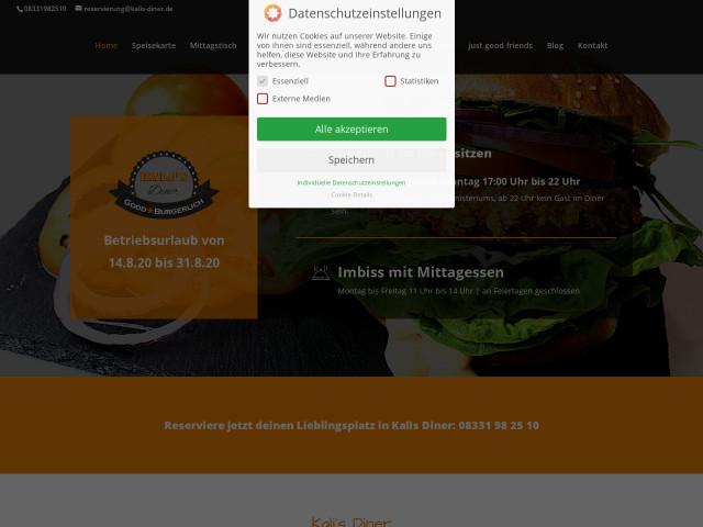 Kali S Diner Good Burgerlich Tel 08331 9825