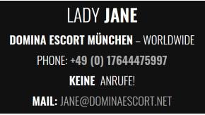 Lady Jane Domina Escort Service München
