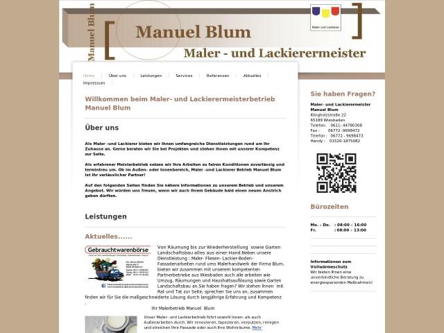 Malerbetrieb Wiesbaden maler und lackierermeister manuel blum tel 06772 96984