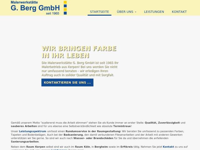 Maler Bergheim malerwerkstätte g berg gmbh tel 02273 517
