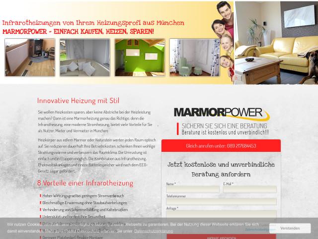 Infrarotheizung München marmorpower gmbh tel 089 21768445 1 adresse