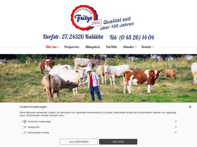 Partyservice Fritze Kalübbe, Schleswig-Holstein