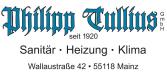 Philipp Tullius GmbH Sanitär- Gas-Heizungs-Anlagen       Mainz