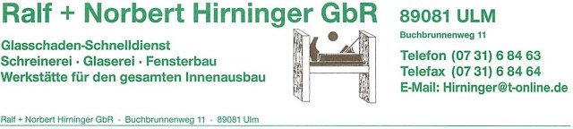 Schreinerei Ulm ralf u norbert hirninger gbr tel 0731 684