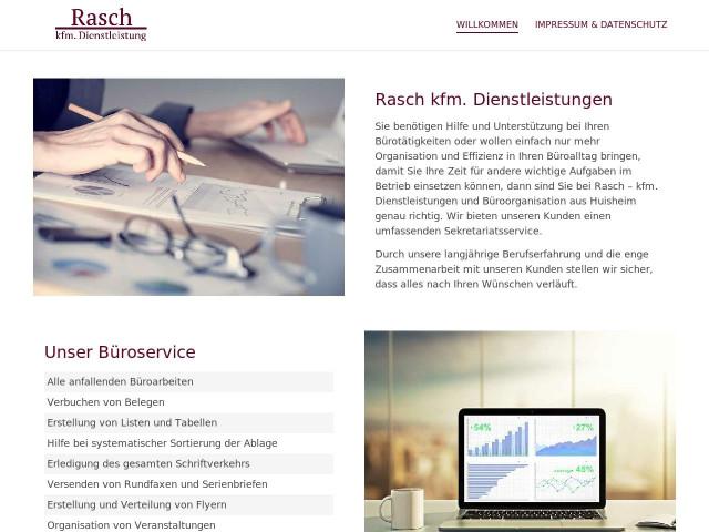 Rasch Kfm Dienstleistungen Tel 0170 86168