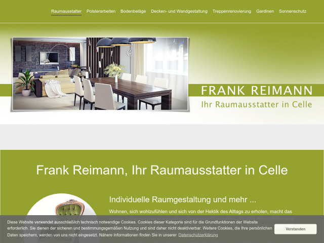Raumausstattermeister Frank Reimann Tel 05141 415
