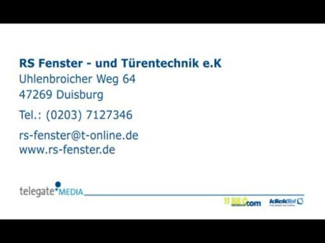 Fenster Türen Duisburg rs fenster und türentechnik e k tel 0203 71273