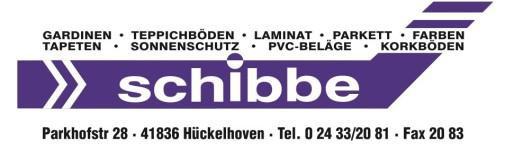 Schibbe Wilhelm Tapetenfachgeschaft Tel 02433 20