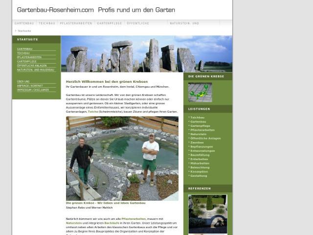 ▷ stephan rebs - die grünen krebse (garten,- und landschaftsbau