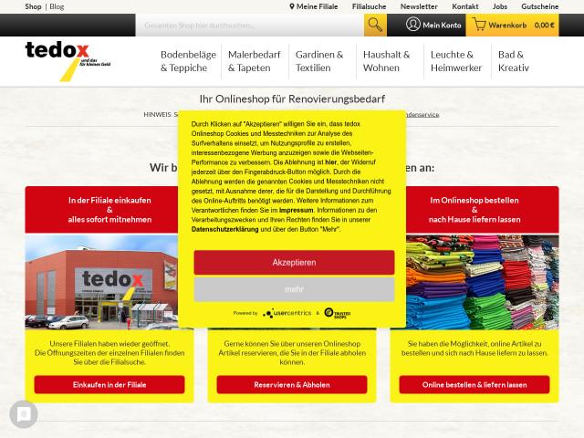 ▷ tedox KG Filiale Solingen (Grünewald Center) ✅ | Tel. (0212