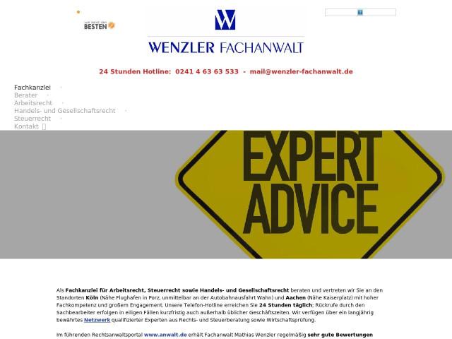 Wenzler Fachanwalt Tel 0241 463635 Bewertung