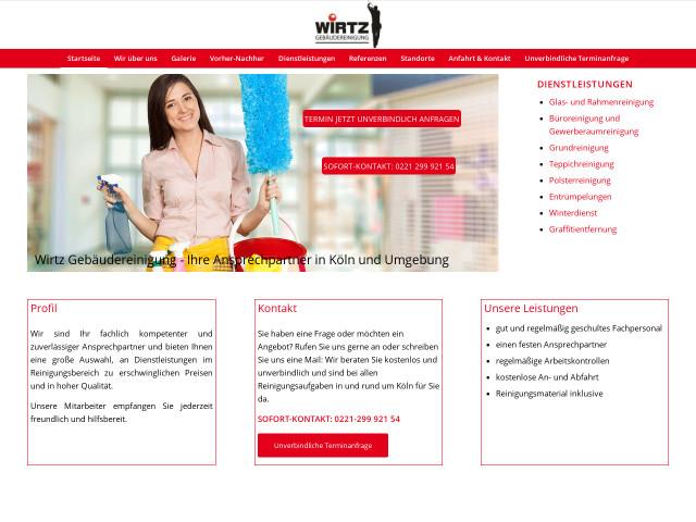Wirtz Gebäudereinigung Tel 0221 299921