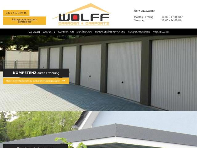 Wolff garagen carport zentrale herr dietmar wolff berlin
